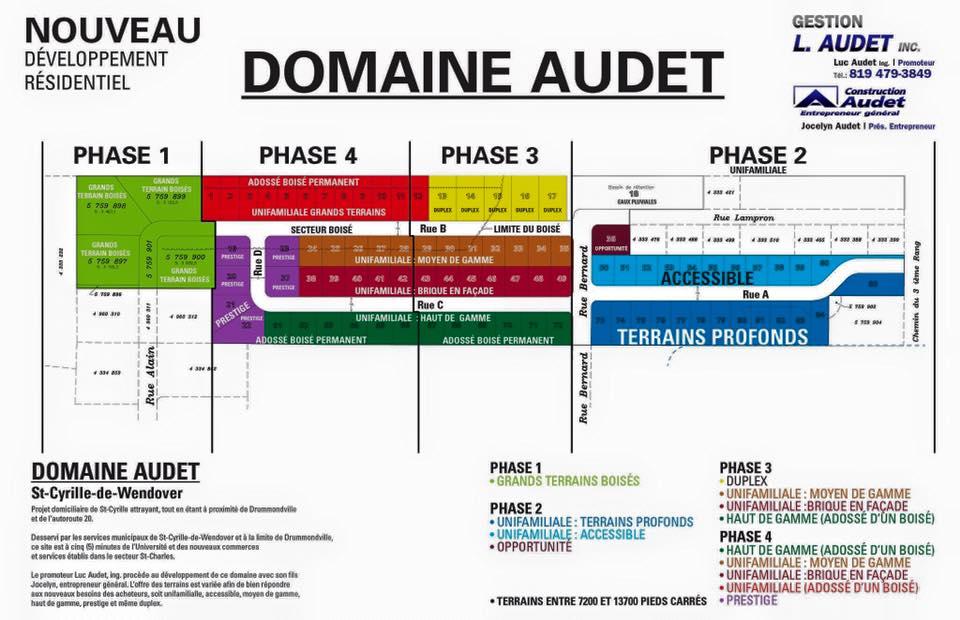 Développement résidentiel Domaine Audet